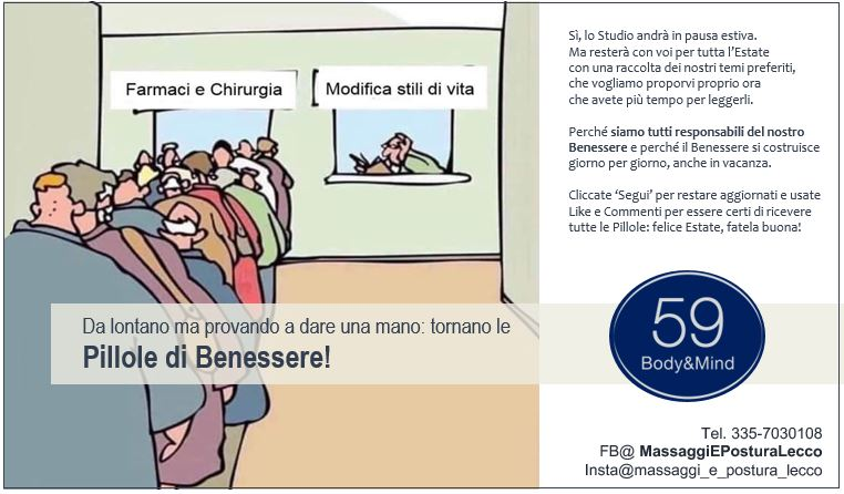Pillole di Benessere: Durante la chiusura allo Studio59 Body&Mind Calolziocorte Lecco
